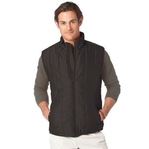 Chaps XXL 2XL 2XB Vest Black Quilted Puffer Coat